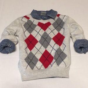 Gymboree button down shirt children's place 12-18